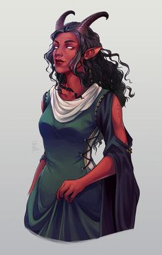 Another half body tiefling design commission! This Lady was super fun to draw … - Character Design Club 2019 Dungeons And Dragons Characters, Dnd Characters, Fantasy Characters, Female Characters, Fantasy Character Design, Character Drawing, Character Design Inspiration, Character Concept, Concept Art