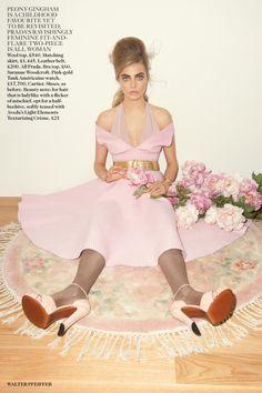 Retro Bouffant Editorials : UK Vogue September
