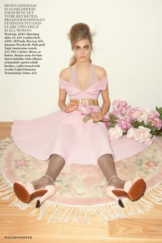 Cara Delevingne by Walter Pfeiffer for Vogue UK