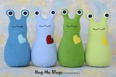 Stuffed Animal Pillow Patterns Free | Handmade Slug, Stuffed Animal Plush Doll Art Toy, ... | siuti zaisliu ...