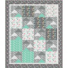 free pattern flying geese quilt from Camelot Fabrics