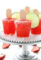strawberry margherita popsicles