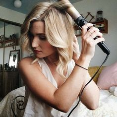 Simple step by step tutorial for soft waves with a traditional curling iron #hair_curling