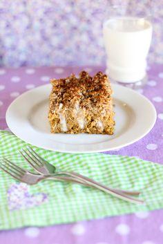 Vanilla Custard Soaked Pumpkin Poke Cake > Willow Bird Baking