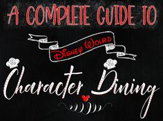 Check out the complete guide to all the character dining at Walt Disney World. Find out the best character dining at Walt Disney World.