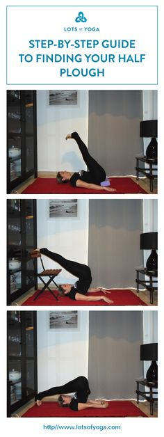 How to find your first plough yoga pose (Ardha Halasana modification).