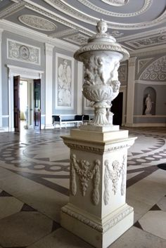 The Entrance Hall Osterley Park, modelled by Robert Adam after design ideas Architecture Details, Interior Architecture, Interior And Exterior, Interior Design, Monuments, Entrance Hall, House Entrance, Park Homes, Classic Interior