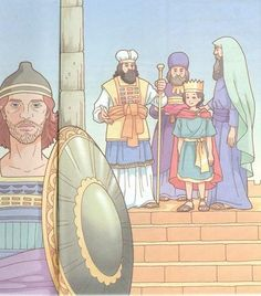 King Josiah, Blog Da Tia Ale, John The Baptist, Bible Crafts, Princess Zelda, Illustration, Solomon, Fictional Characters, Stage