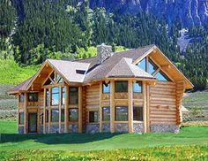 Yeah. I only wish i could ever afford a house like this in the mountains. HA! =) oh well...still beautiful. a girl can dream, can't she?? ;)