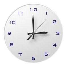 Plain White and Blue Plain Kitchen Clocks