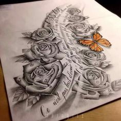 Realistic rose tattoo design The rose is a classic in tattooing, it is very appreciated by our customers. Dope Tattoos, Badass Tattoos, Body Art Tattoos, Piercing Tattoo, Arm Tattoo, Sleeve Tattoos, Sketch Tattoo Design, Tattoo Designs, Realistic Rose Tattoo