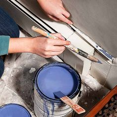 For clean cut lines while painting, use a mini-blind slat to mask off molding. | Photo: Ian Spanier | thisoldhouse.com