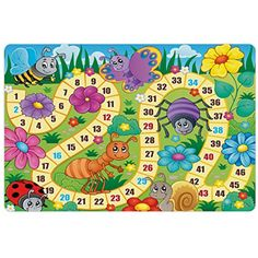 Lunarable Board Game Pet Mat for Food and Water, Various Kinds of Animals Bee Butterfly Ant Ladybug Kids Theme Spring Meadow, Rectangle Non-Slip Rubber Mat for Dogs and Cats, Multicolor Board Game Template, Printable Board Games, Board Game Themes, Illustration, Banner Printing, Activity Games, Preschool Activities, Ladybug, Vector Free