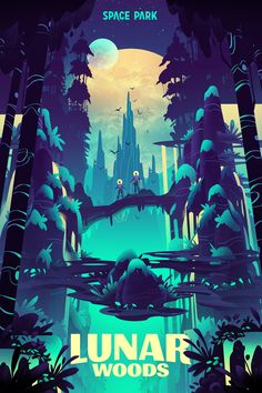 Futuristic illustrations created by Brian Miller for the Space Park board game. Brian Miller was commissioned to create a series of futuristic Game Art, Illustration, Animation Art, Space Illustration, Landscape Illustration, Art Reference, Game Illustration, Environmental Art, Vector Art
