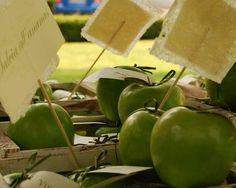Ispirazione matrimonio mela verde come segna posto.. rustica e genuina...   La Gaiana Location matrimoni Bologna www.lagaianabeb.it