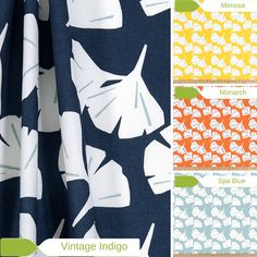 Ginkgo Leaf - Window Valance or Cafe Curtain - Premier Prints Ginkgo Collection - Made to Order in Multiple Sizes and Colors by FreshCanopy on Etsy https://www.etsy.com/listing/463437900/ginkgo-leaf-window-valance-or-cafe