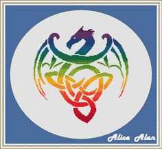 Cross Stitch Pattern Silhouette Dragon Rainbow monochrome tattoo tribal dinosaur designed by me, so you have a unique opportunity to get an exclusive product.  Colors – 13  Fabric: 14 count White Aida Stitches: 124 x 127 Size: 8.86 x 9.07 inches or 22.50 x 23.04 cm Colours: DMC Fabric: 16 count White Aida Stitches: 124 x 127 Size: 7.75 x 7.94 inches or 19.68 x 20.16 cm Colours: DMC Fabric: 18 count White Aida Stitches: 124 x 127 Size: 6.89 x 7.06 inches or 17.50 x 17.92 cm Colours: DMC PDF…