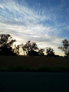 Beautiful sunrise in California