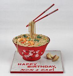 Gravity Defying Birthday Cake.