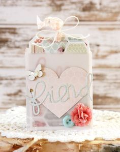 Card by PS DT Laurie Schmidlin using PS Deco Bag die, Friend and Hello Words dies