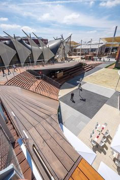 Another spectacular view of the German Pavilion at Milan Expo 15. #GROHE, #Milan Expo, #bathroom