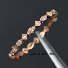 Details about Matching Wedding Band!Diamond Full Eternity Rose Gold,Art Deco Antique Solid Rose Gold,Band Width Can be Re-sized; Round Cut SI/H Natural Diamonds; a, Ring Resizing; d, Custom make your own ring; Full Eternity Ring, Eternity Ring Diamond, Eternity Bands, Wedding Rings Rose Gold, Bridal Rings, Gold Wedding, Wedding Vintage, Dream Wedding, Antique Wedding Bands