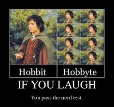 "If this is the case, then I totally passed the ""nerd test."" Haha!"