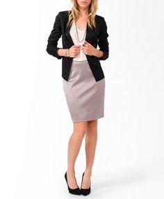 Essential Lustrous Knee Length Skirt | FOREVER 21 - 2025102380