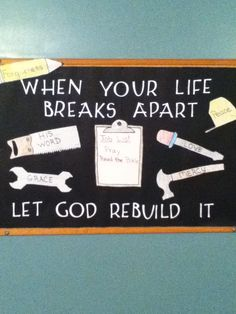 Here is our new bulletin board in the adult Sunday School room. Religious Bulletin Boards, Bible Bulletin Boards, Christian Bulletin Boards, Classroom Bulletin Boards, Christian Classroom, Classroom Door, Classroom Ideas, Sunday School Rooms, Sunday School Classroom
