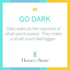 Interior Design Tips and Tricks: Go Dark! - Style. Design. Innovation. See examples of beautiful dark rooms!