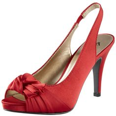 Jeana Knot Slingback in Red. Pretty party shoes for Christmas?