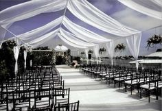 Breezy wedding tent