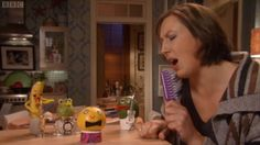 Miranda: Excuse me, I have a life. Stevie: You do know staying in with fruit friends doesn't count? Miranda: I do not do that. - Miranda A New Low Miranda Bbc, Miranda Hart, Getting Up Early, Getting Old, Shallow People, Good Environment, Cool Things To Make, How To Make, British Comedy