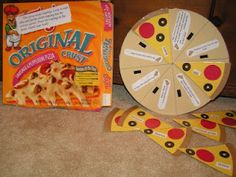 Bible Lesson Pizza-só uma idéia...pode ser usado com perguntas e respostas, ou pistas! fica legal!