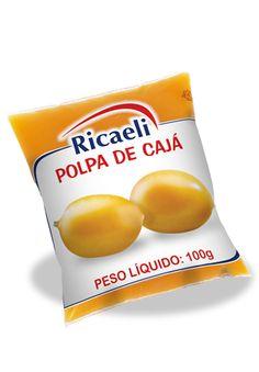 A Polpa de Fruta Riacaeli sabor Cajá é um produto 100% Natural, é Distribuída de Fruit Mix nas embalagens de 100g e 1Kg (10 unidades de 100g)