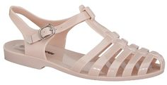 Forever Jedi New Women Summer Round Toe T-Strap Retro Beach Jelly Rainbow Clear Rain Flat Sandal (7, Nude) * Startling review available here  : Jelly Sandals