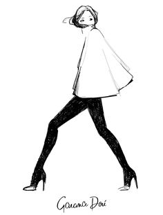 Garance Doré is an illustrator, photographer & fashion blogger who has collaborated creatively with Vogue Paris, Dior, Chopard, Louis Vuitton, Reed Krakoff, Kate Spade, Céline among others. Her work has been featured in exhibitions in London, New York, & Sydney.
