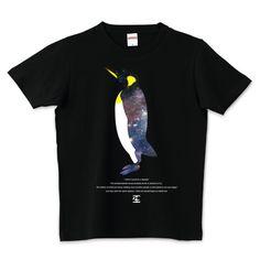 宇宙を見るペンギン Tシャツ | デザインTシャツ通販 T-SHIRTS TRINITY(Tシャツトリニティ)
