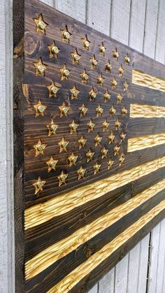FREE shipping: Wooden American Flag with chiseled texture and
