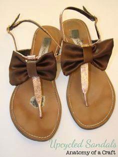 DIY Upcycled Sandals