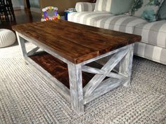 Beautiful Rustic Coffee Table Build All With Repurposed Wood. Loved Using The Blow  Torch To Pull