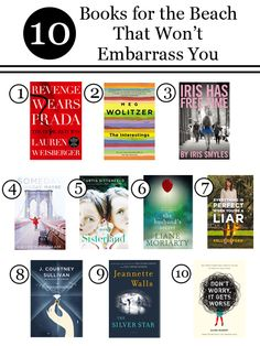 10 Books for the Beach That Won't Embarrass You ~ Levo League