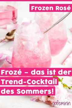 Frozen Rosé: These 3 Frosé recipes are perfect for summer – Cocktail Recipes Pina Colada, Frose Rezept, Smoothie Recipes, Smoothies, Frozen Rose, Drink Tags, Refreshing Cocktails, Frozen Cocktails, Starbucks Drinks