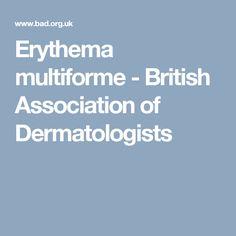 Erythema multiforme - British Association of Dermatologists
