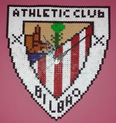 #Reloj de #pared del @AthleticClub de #Bilbao con #hama midi  #HOWTO #DIY #artesanía #manualidades vía @seofemenino