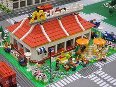 Lego MOC Mcdonalds Resturant by alanboar, via Flickr