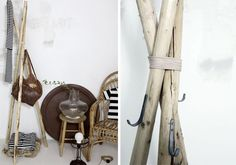 DIY coat stand...gets me in the mood for winter!