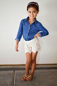 Dainy Lace Shorts! Love this kids fall fashion trend. www.alexanderandsophia.com