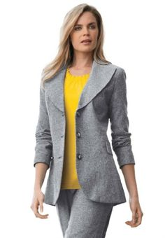 Jessica London Women's Plus Size Tweed Blazer Black White Tweed,14 Jessica London,http://www.amazon.com/dp/B0093KIFUK/ref=cm_sw_r_pi_dp_QyUJsb15SHA7WQGQ