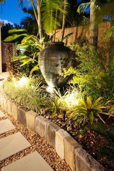 Garden Art Design Ideas - Photos of Garden Art. Browse Photos from Australian Designers & Trade Professionals, Create an Inspiration Board to save your favourite images. Tropical Garden Design, Tropical Landscaping, Garden Landscape Design, Front Yard Landscaping, Bali Garden, Garden Art, Corner Garden, Yard Design, Garden Inspiration